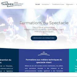 Tandem Formations professionnelles – nouveau site web